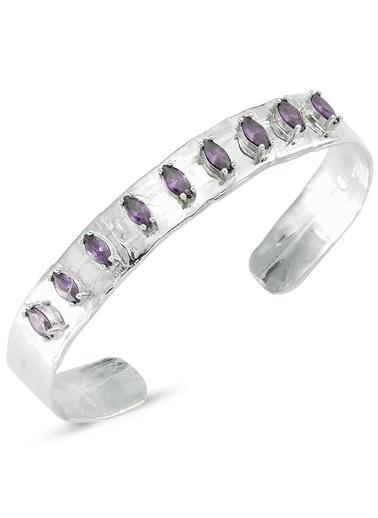 Reian Jewelry Troya Sılver Dark Pınk Marquıse Bileklik Gümüş